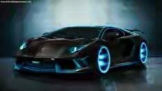 Blue and black car