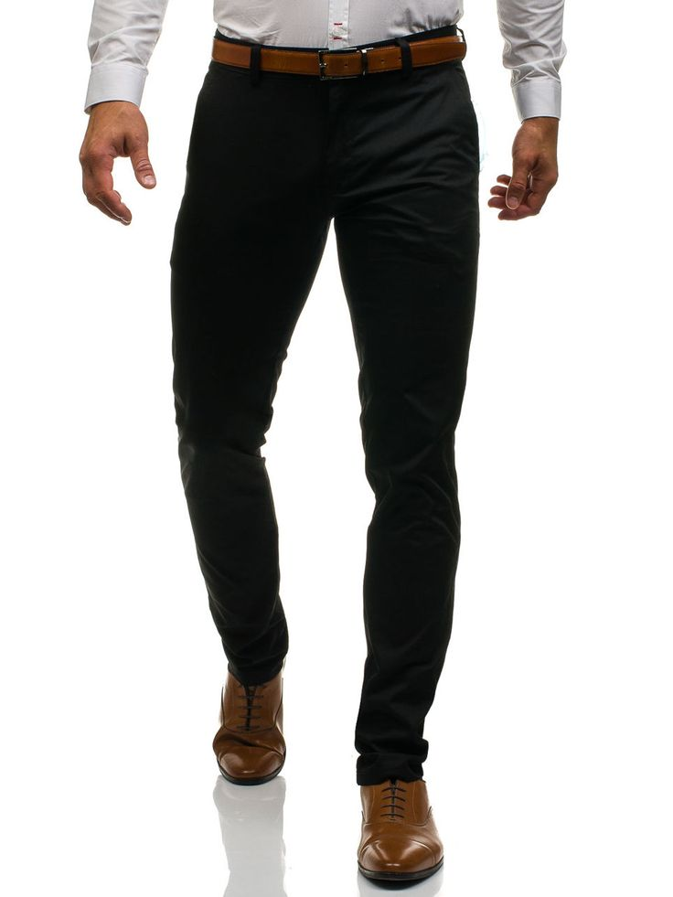 Black men's trousers Manufactured for Bolf by Black Rock The model (182 cm, 85 kg) is wearing size 34 Fabric: 100% Cotton