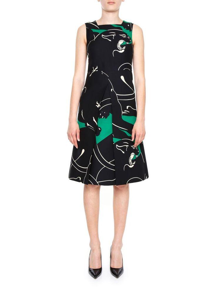 VALENTINO Panther Print Dress. #valentino #cloth #