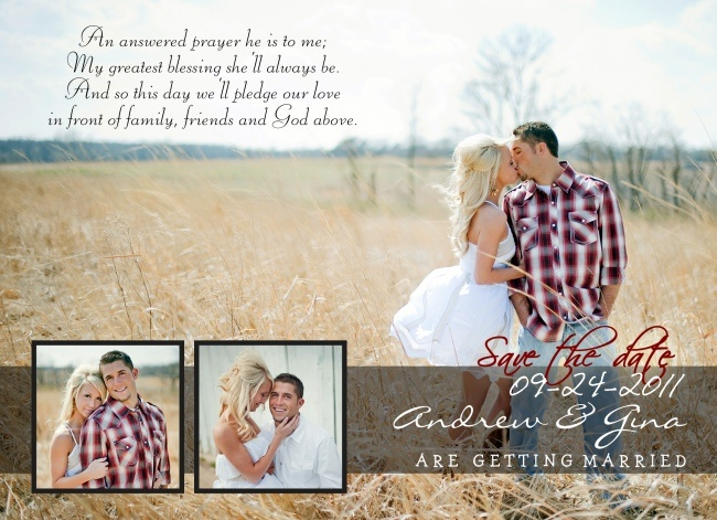 Our Save the Date cards we sent out before the wedding :)