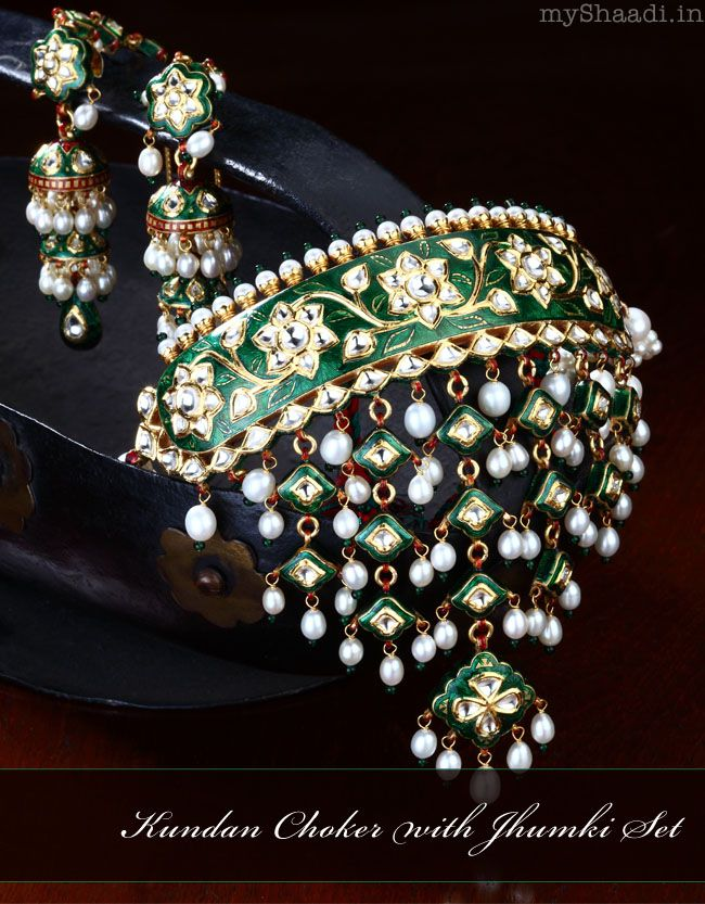 Smaller version of aad is known as mini-aad. This is a mini-aad made of 'lac'. Lac timaniyas have traditionally not been common among Rajputs as they only wore gold jewellery. (Lac was popular but only lac bangles were worn by Rajputs.) However, with time artificial jewellery is slowly becoming popular among the younger generation as carrying gold is becoming quite risky. However, wearing artificial jewellery is still looked down upon by some traditional families.