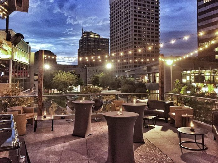 This is the view you'll find when you dine here! Who said downtown Phoenix couldn't be beautiful?