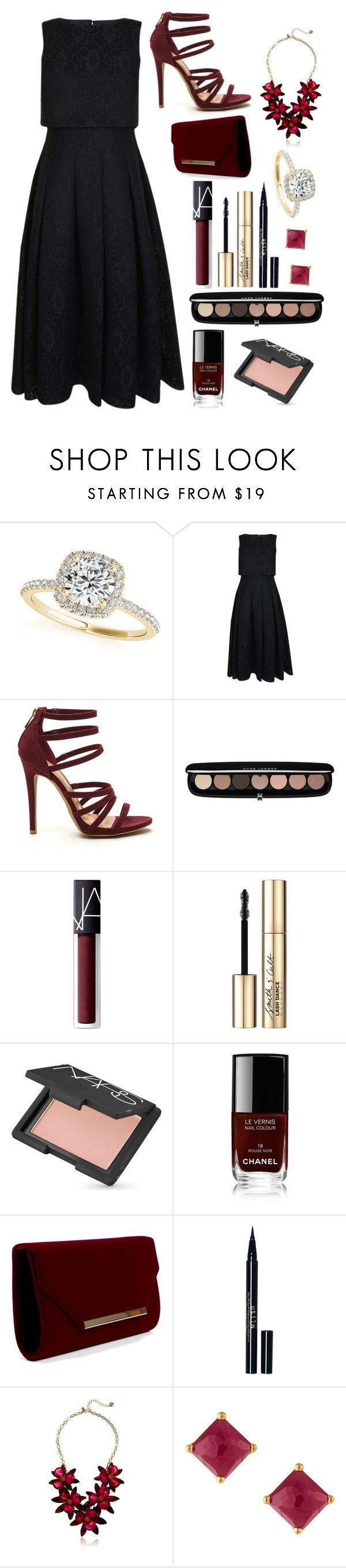 """""""Engagement"""" by lightbody-joanna on Polyvore featuring Allurez, Ted Baker, Marc Jacobs, NARS Cosmetics, Smith & Cult, Chanel, Stila, Kate Spade and Ippolita"""