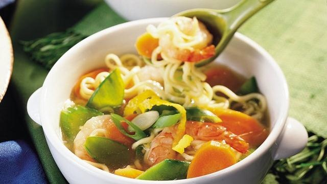 new year noodle soup weeknight noodle vegetable and shrimp soup recipe ...