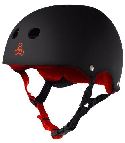 """Our renowned rubber helmet is one of the best multi-impact helmets available. This helmet can be used as necessary protective gear for skateboarding, in-line skating (rollerblading""""), roller derby, and scooters. This helmet is not for bicycle use. As well, at Triple Eight we know that..."""