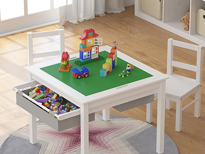 Amazon Com Utex 2 In 1 Kids Multi Activity Table And 2 Chairs Set
