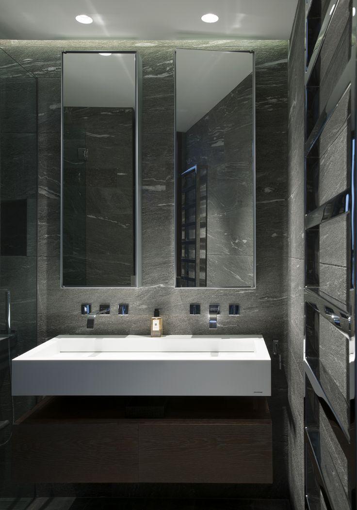#Bathroom made from #grey #stones // #Badezimmer aus #grauen #Steinen