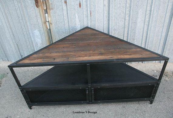 Corner Unit/TV Stand. Vintage/Modern Industrial Mid by leecowen