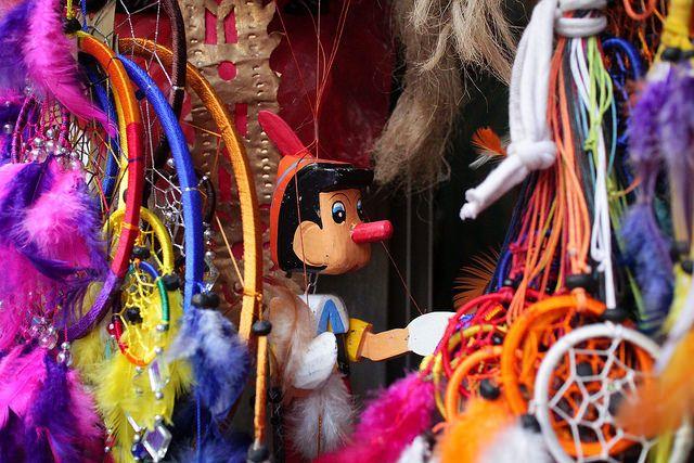 one side of Sukawati art market, Bali
