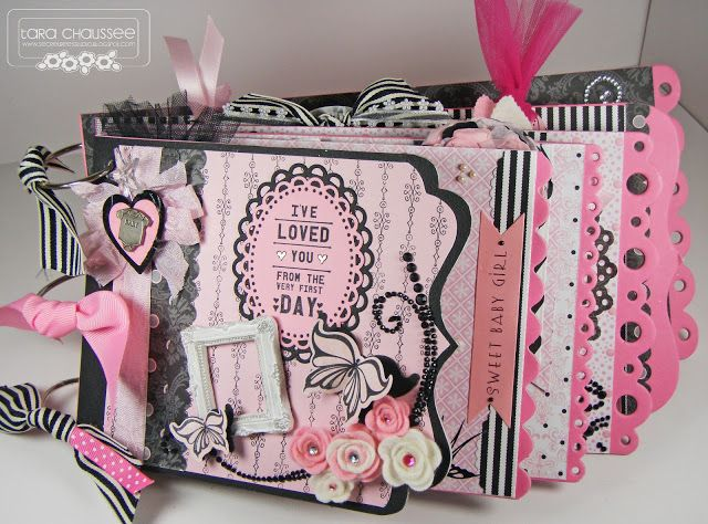 Baby Girl mini scrapbook album! Secretbees Studio: Sweet Baby Girl!