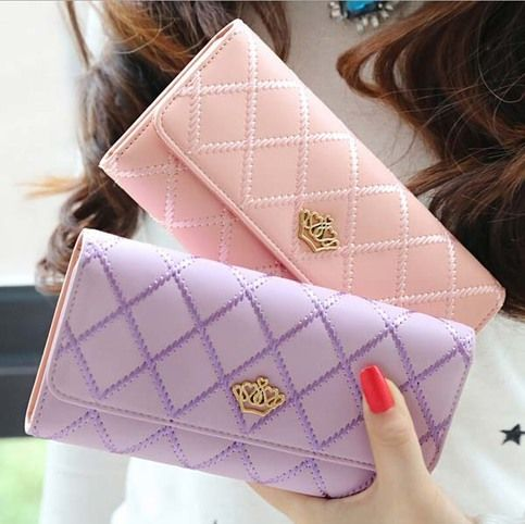 Fashion Embroidered Crown Cover Long Purse Money Wallet 160519D-QianbHg