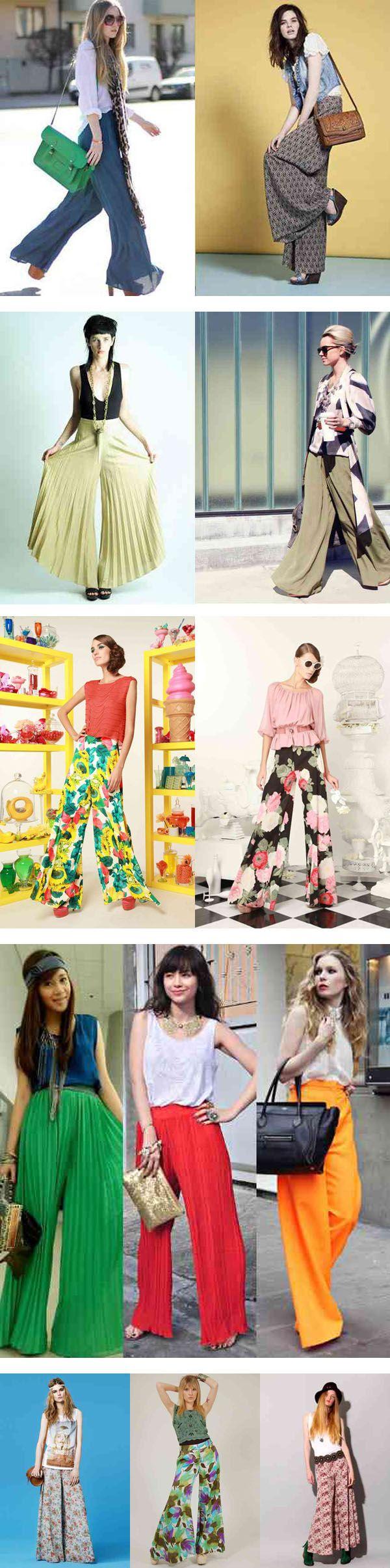pantalones anchos que son una fuerte tendencia de la moda!  Además de ser En el verano de 2012/2013 prometen ser los pantalones dominantes, y