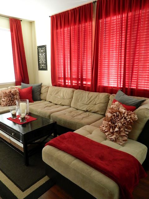 Best 25+ Red curtains ideas on Pinterest | Red decor accents, Red ...