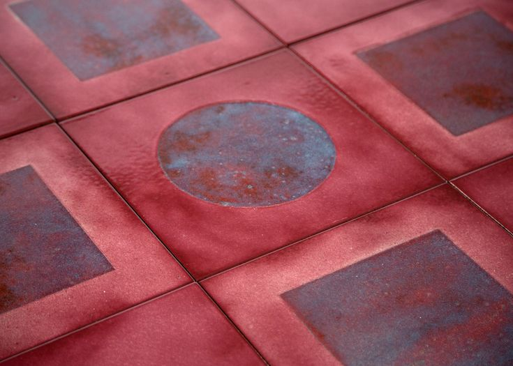 London designer Faye Toogood has glazed lava stone in a range of fiery colours for her tile collaboration with ceramics brand Made a Mano.