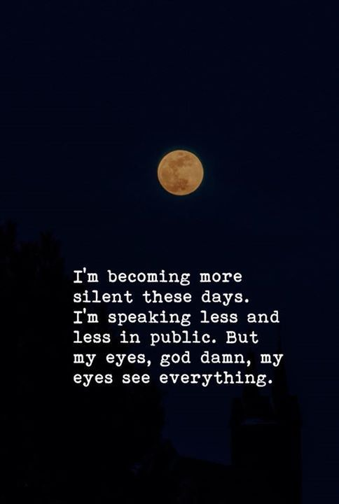 I'm becoming more silent these days.. —via http://ift.tt/2eY7hg4