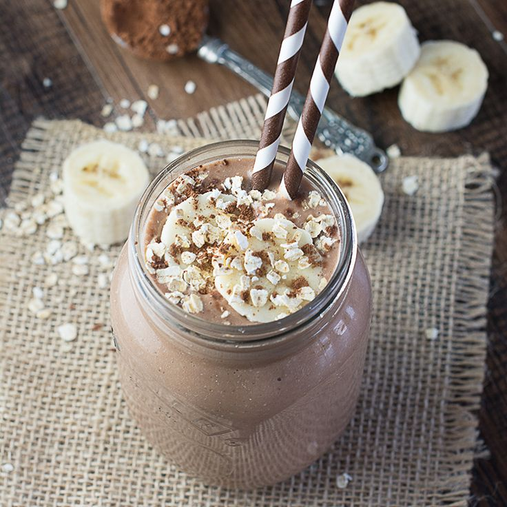 This coconut, banana & chocolate breakfast smoothie is a delicious and healthy way to start the day and the addition of oats will keep you filled up until lunchtime. Vegan, Gluten-Free and Dairy-Free.