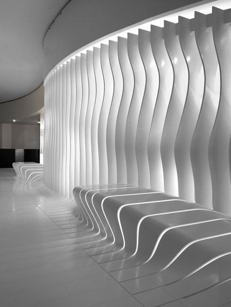 London practice Amanda Levete Architects were awarded the Interiors and Fit-Out Prize at the World Architecture Festival in Barcelona last week for their Corian Super-Surfaces Showroom in Milan.: