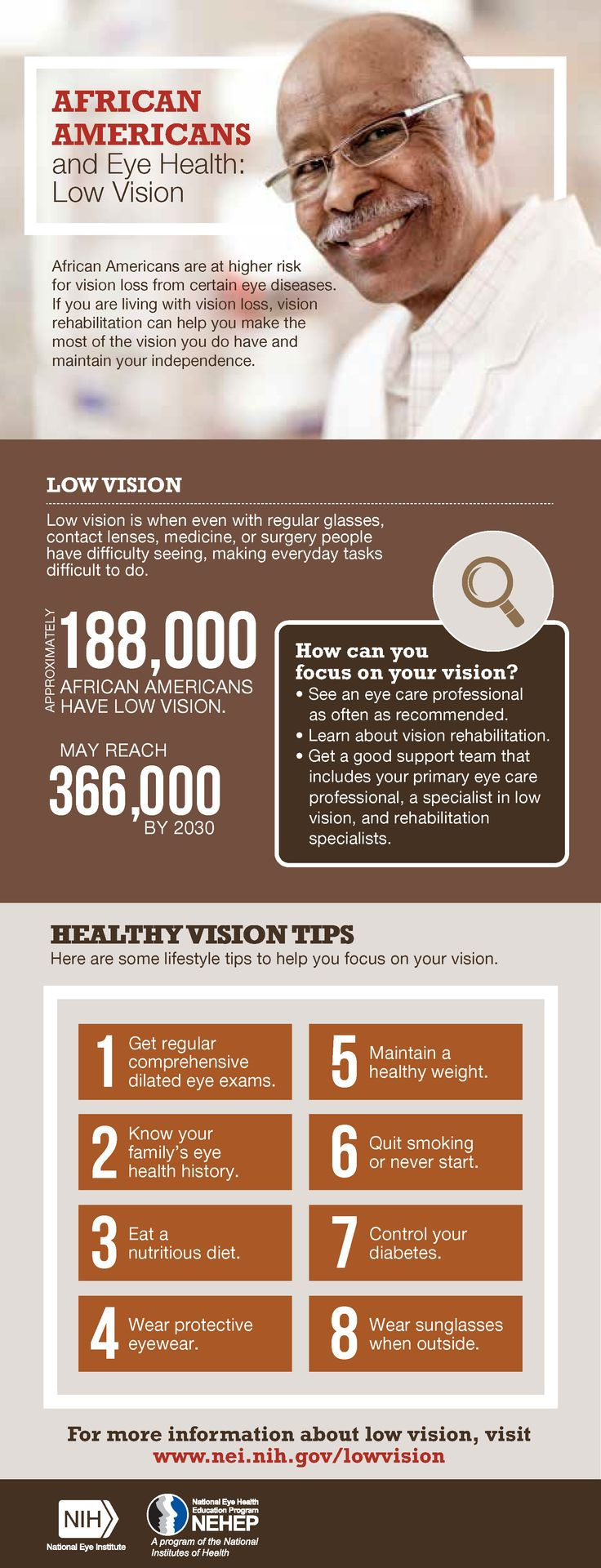 African Americans and Eye Health: Low Vision.