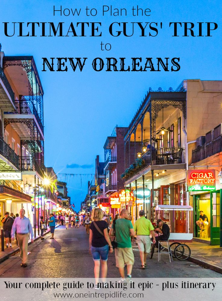 Revel in food, music, nightlife, gambling, & sports - all in a long weekend. Your Guys Trip to New Orleans will be so epic, you'll want to do it every year. #bachelorparty