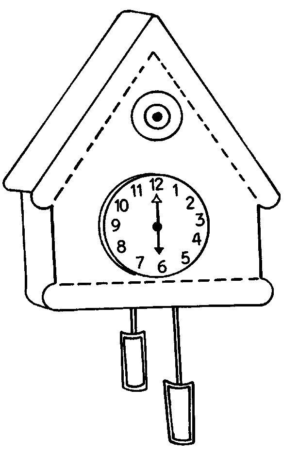 koekoeksklok tekening zoeken tijd
