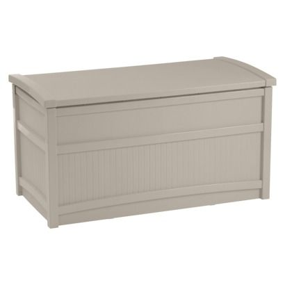 Suncast Deck Box Taupe - 50 Gallon -for outdoor pillows