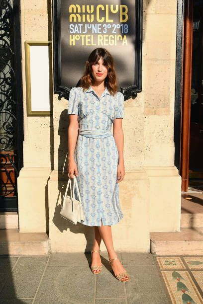 3ee20cdffed Jeanne Damas attends Miu Miu 2019 Cruise Collection Show at Hotel Regina on  June 30 2018 in Paris France