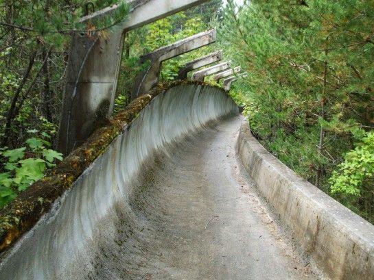 Piste de bobsleigh ayant servi aux Jeux Olympiques de 1984 à Sarajevo (Bosnie-Herzégovine)