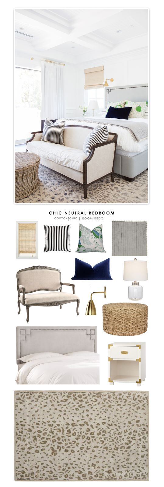 A Chic Neutral Bedroom by Studio McGee redesigned by Copy Cat Chic for under $3000.