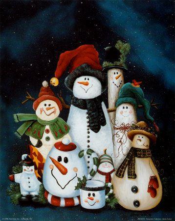 Colección de muñecos de nieve Lámina