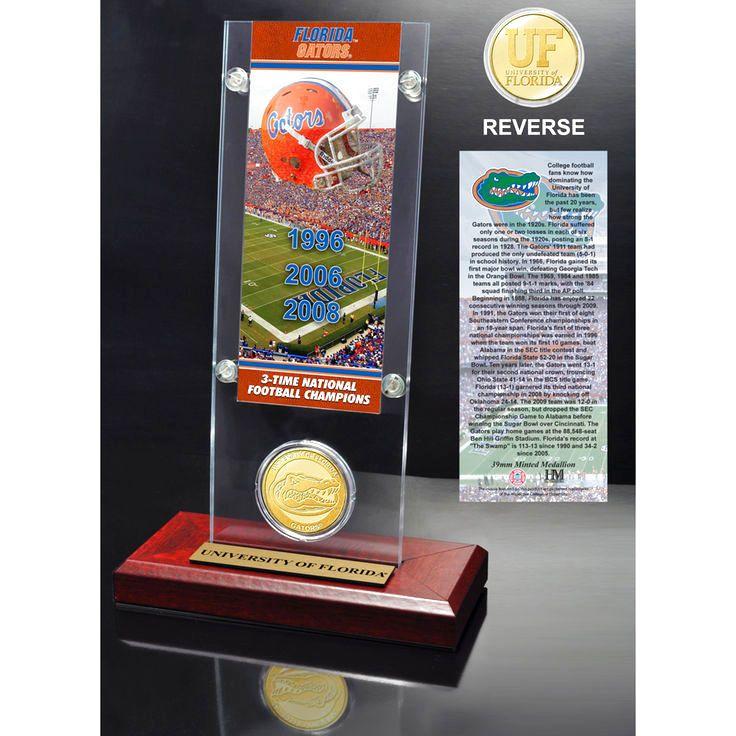 Florida Gators Highland Mint 3-Time Champions Ticket Acrylic - $31.99