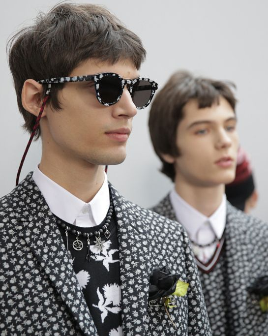 justdropithere: François Voncq by Delphine Achard - Backstage at Dior Homme FW16