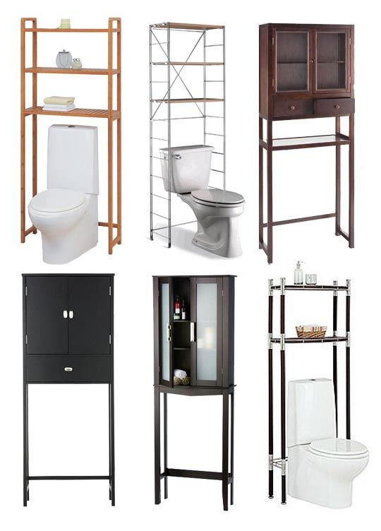 Space Savers:  Bathroom Shelving Units from http://www.apartmenttherapy.com/space-savers-bathroom-shelving-units-179527