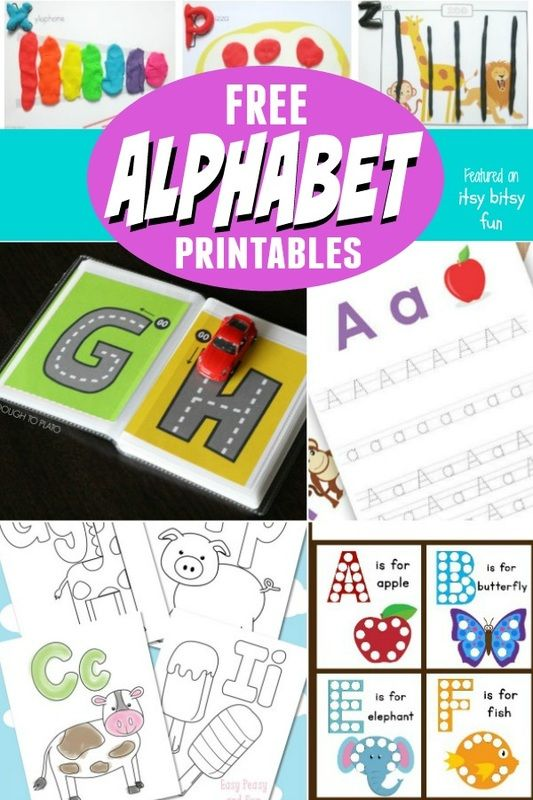Free Alphabet Printables. Fun ABC activities, literacy centers, and alphabet crafts for kids.