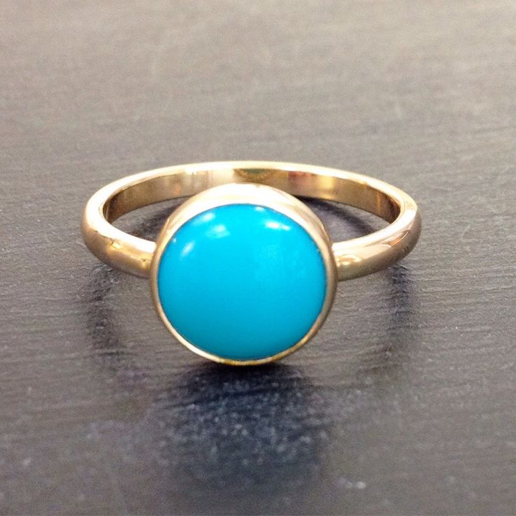 Turquoise gold ring - Gold Rings For Women - Arizona Turquoise Engagement Ring or Birthstone Ring by eanjewellery on Etsy https://www.etsy.com/listing/463626694/turquoise-gold-ring-gold-rings-for-women