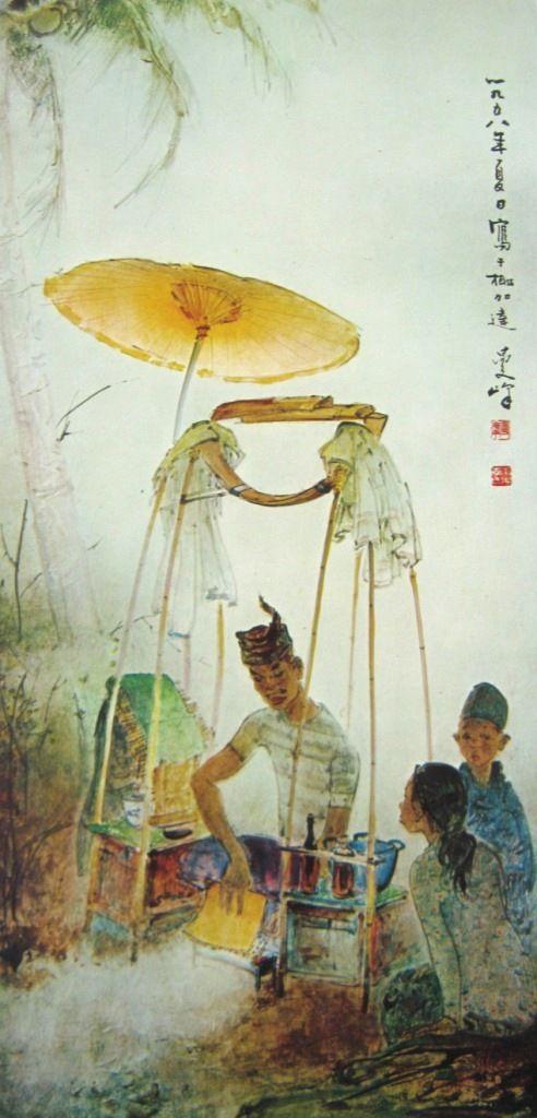 Lee man fong - Penjual sate