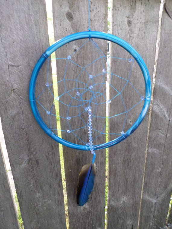 blue dream catcherdream catcher with by JeriAielloartstore on Etsy