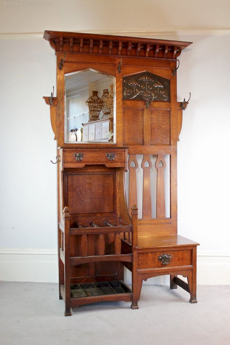 Antique arts and crafts furniture - Arts And Crafts Hallstand By Shapland And Petter C1900 Antiques Atlas