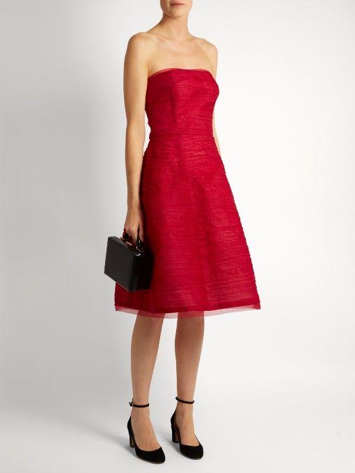 Find Oscar De La Renta Pleated Silk-organza Dress Only at Modalist