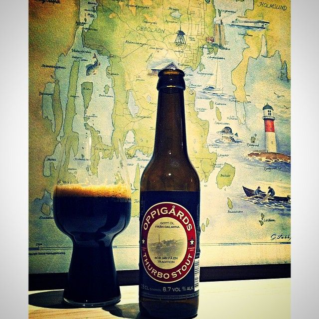 A well travelled Thurbo Stout & the #Spiegelau Stout Glass - shot from @eriklikesbeer. #stout #craftbeer