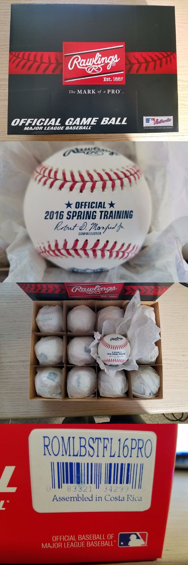Baseballs 73893: 1 Dozen 12 New Rawlings Official 2016 Spring Training Fl Major League Baseballs -> BUY IT NOW ONLY: $110 on eBay!