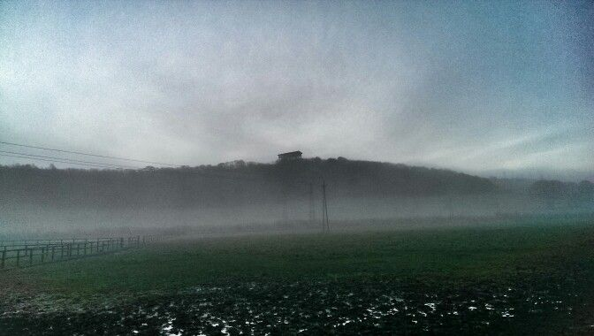 Penshaw Monument in the fog