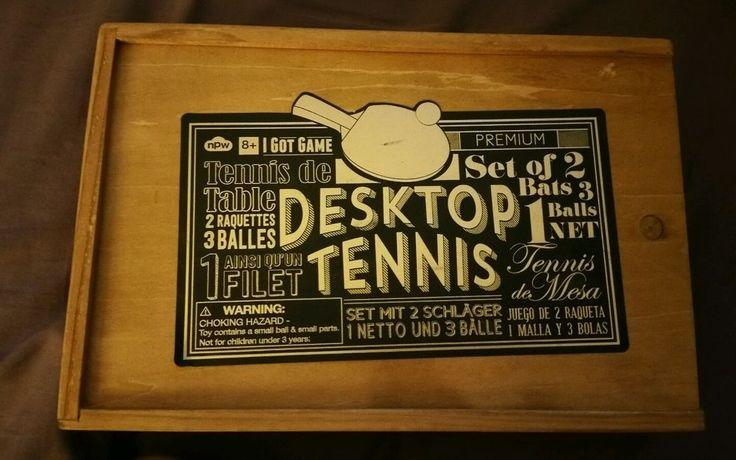 NPW DESKTOP TENNIS SET TENNIS DE TABLE BATS BALLS,NET POSTS in Sporting Goods, Indoor Games, Table Tennis, Ping Pong | eBay