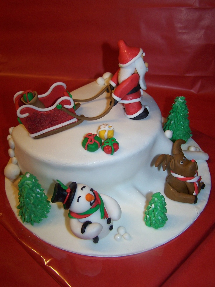 Cute Christmas Cake Images : Top 25 ideas about Christmas Confections on Pinterest ...