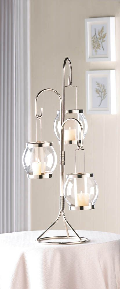 10 Hanging Glass Bulbs Candle Holder Wedding Centerpieces Tall New 10015438
