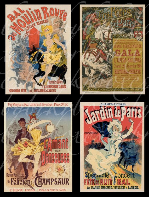 digital download of 20 French posters...$3.50