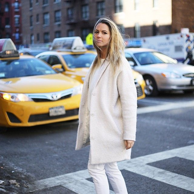 @mylittlefashiondiary spotted in New York with Modström's re-runner jacket YUMI !