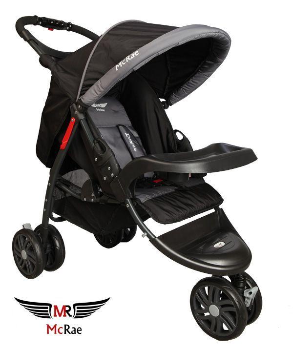 McRae MC 815 Triple Jogger 3 Tekerlekli Lux Bebek Arabası - Siyah ::