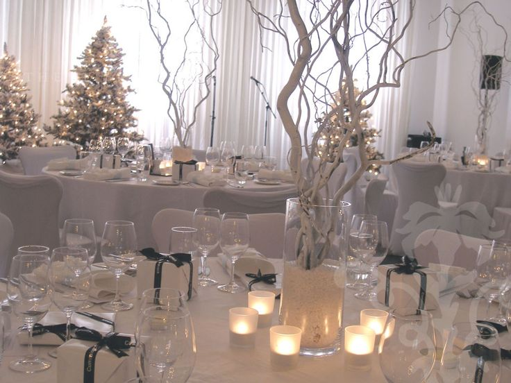 Winter wonderland wedding centerpieces centrepiece for Winter themed wedding centerpieces
