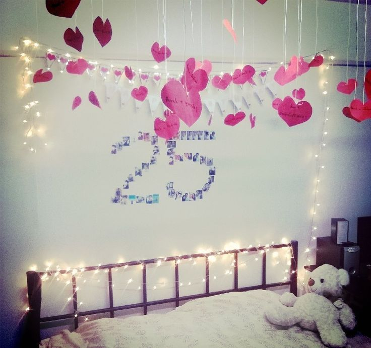 Surprise for my boyfriend ) #3 days before birthday. Birthday DecorationsBirthday IdeasMy ... & The 11 best birthday room decorating images on Pinterest | Birthdays ...