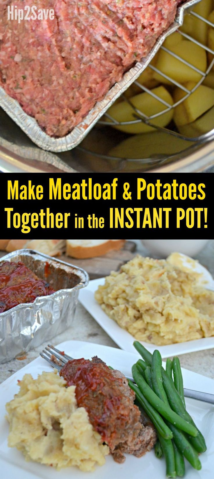 Here's how to make Instant Pot Meatloaf and Mashed Potatoes together as a comforting and convenient one pot meal the entire family will love!
